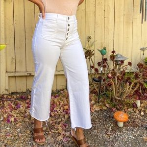 High waisted Express White Jeans